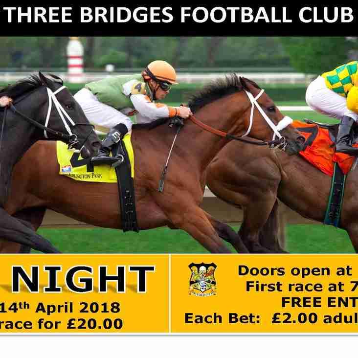 Race Night - 14th April