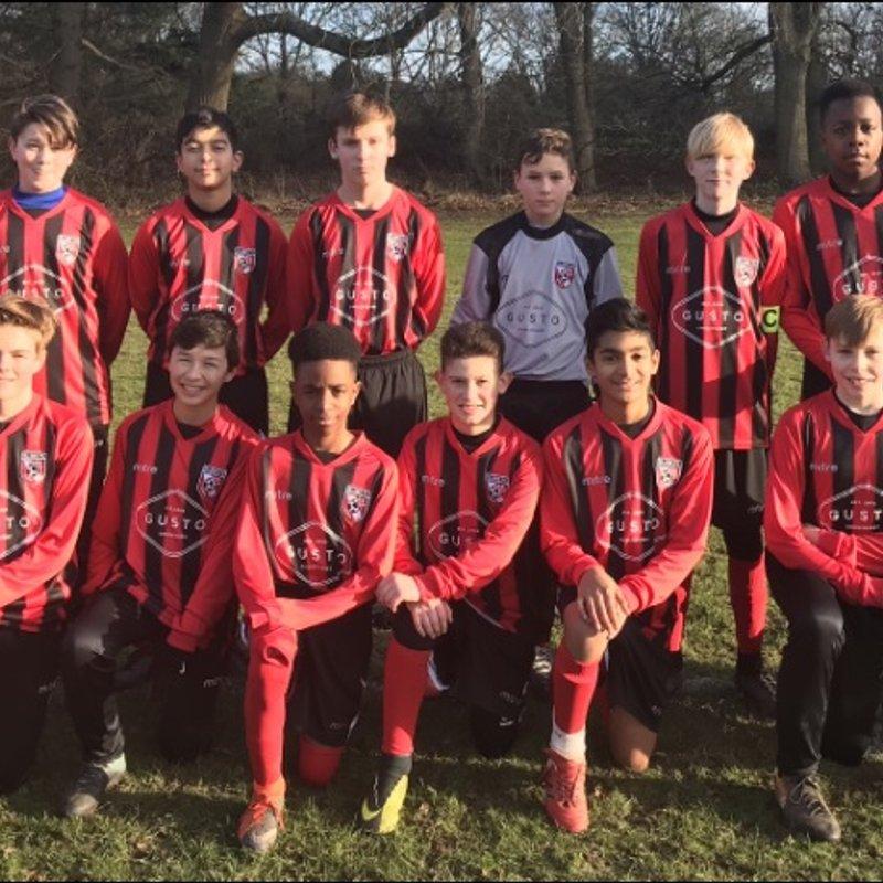 Gusto Chislehurst Sponsor U13s Team