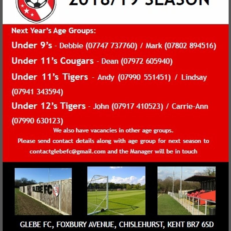 Players Wanted 2018/19