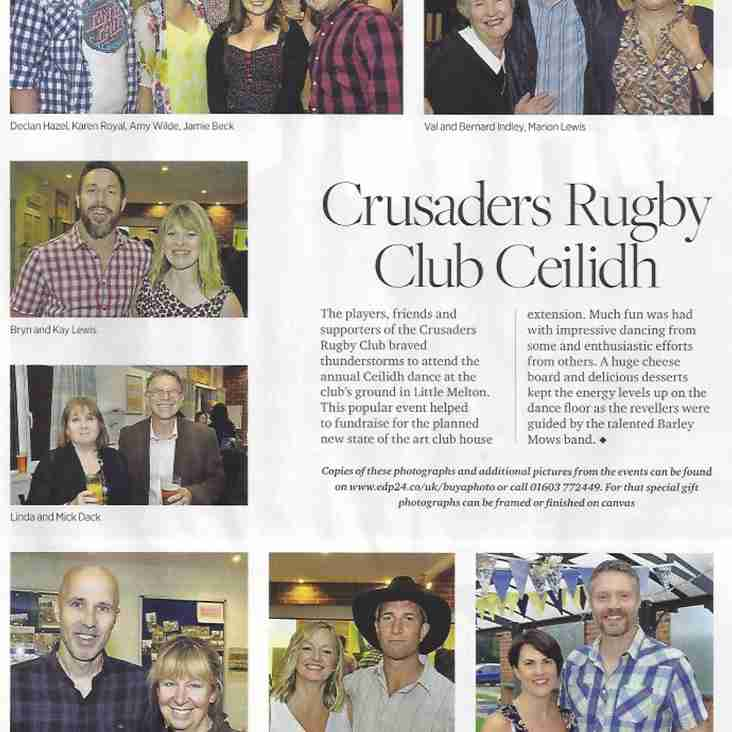 Crusaders Ceilidh hits the Norfolk Magazine
