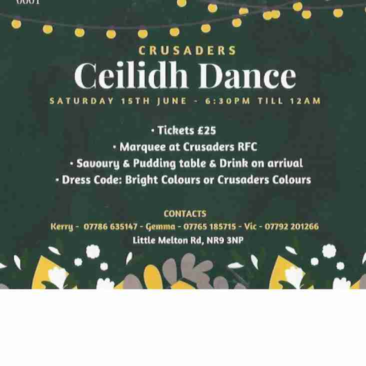 Crusaders Ceilidh tickets on sale NOW