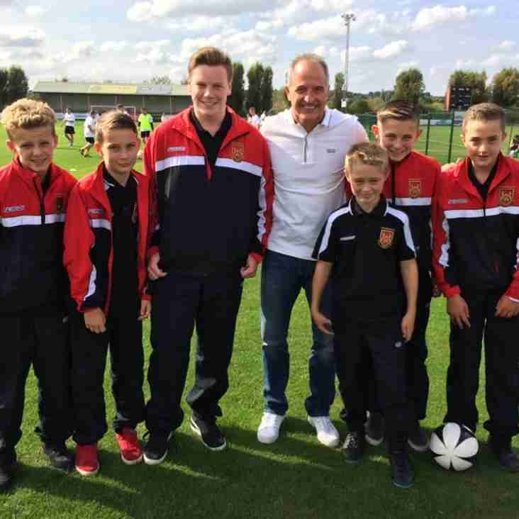 Thank you to the lads from U14's [Sat] who volunteered as Ball Boys for DGNHS Charity Match held at Stourbridge FC Sunday.