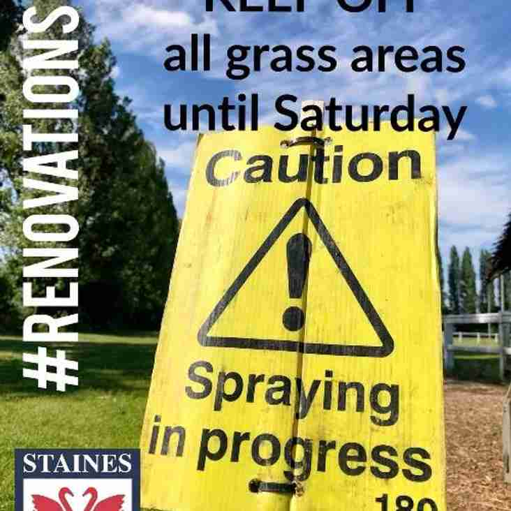 Please stay off the Grass!