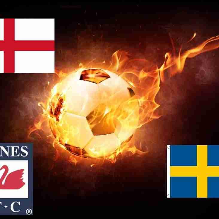 England v Sweden live in the Swan room
