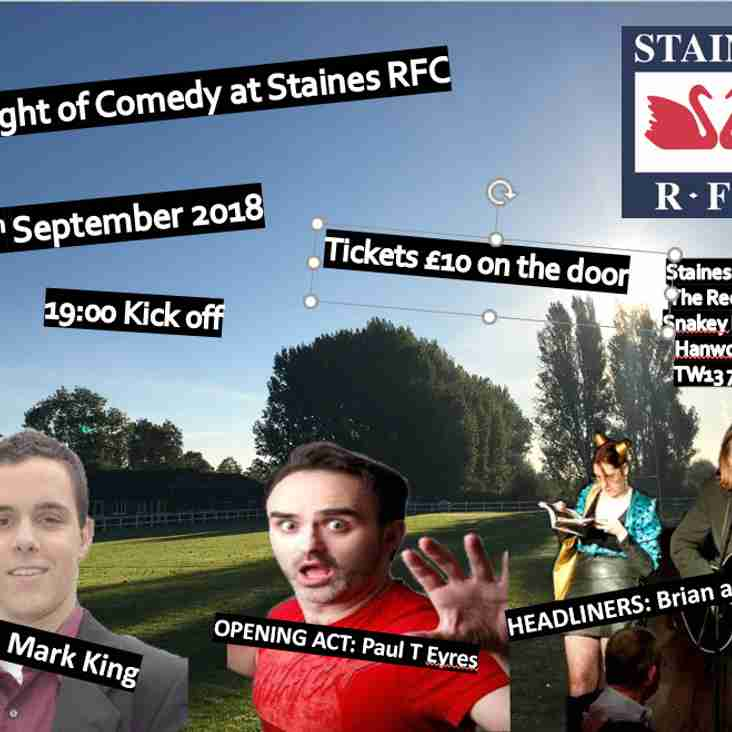 Comedy comes to Staines RFC