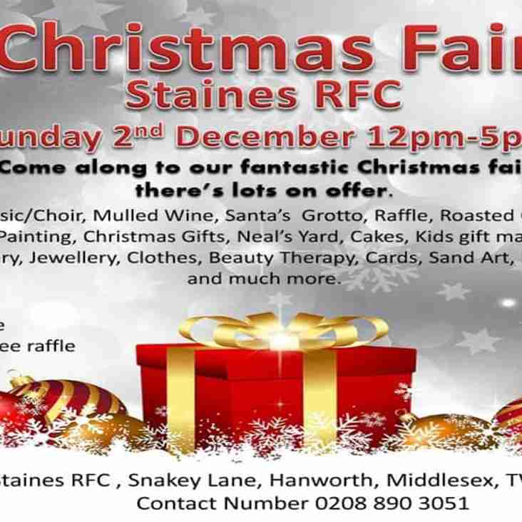 Christmas Fair this Sunday 2nd December