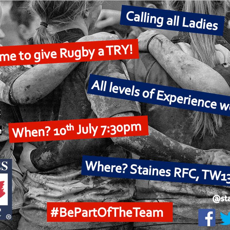Ladies Rugby kicks off tonight 7:30pm