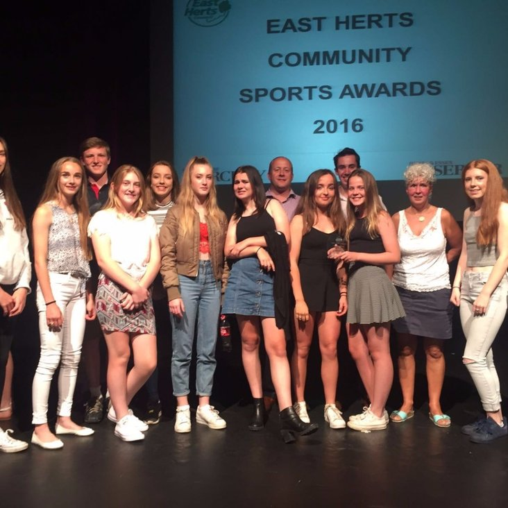 Club Wins &quot;East Herts Community Sports Club of the Year 2016&quot;<