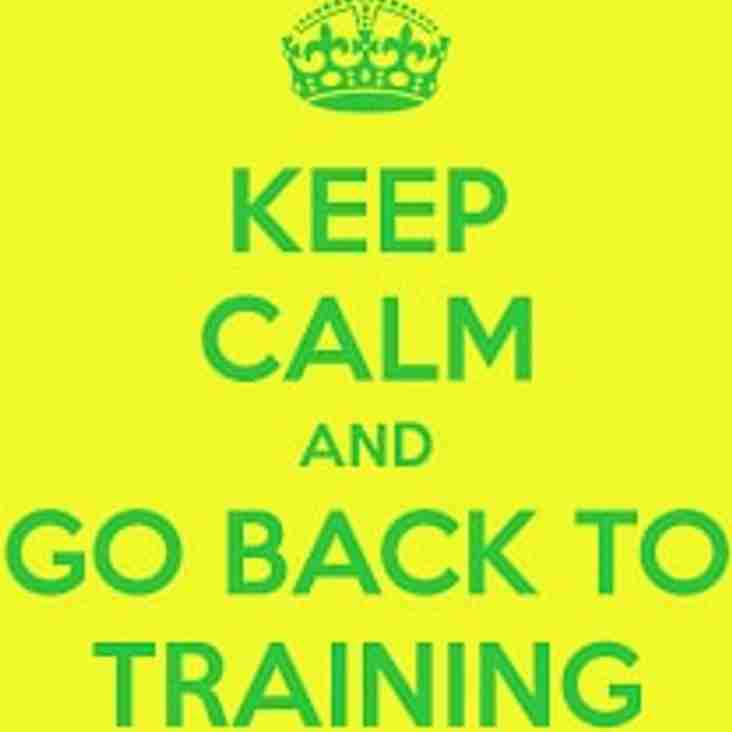 Training Starts Soon