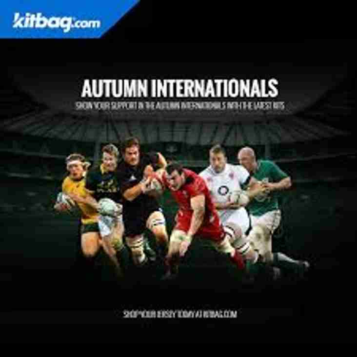 AUTUMN RUGBY INTERNATIONALS