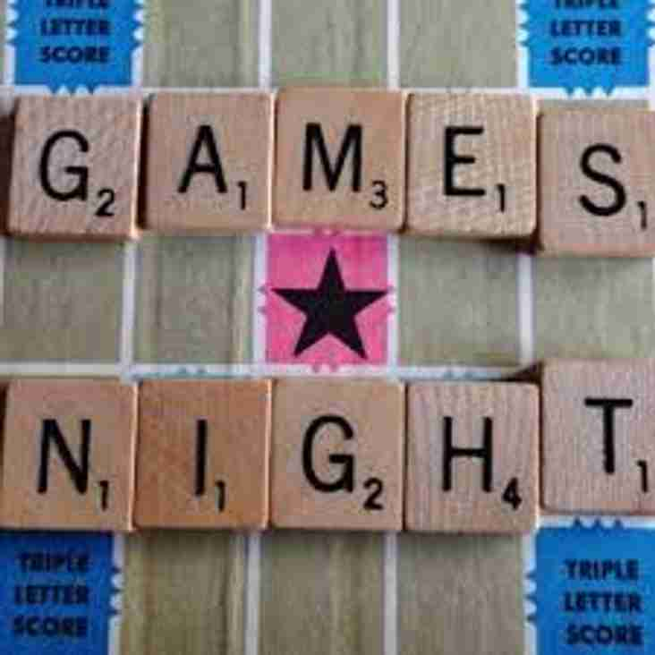 Games Night - Saturday 3rd March