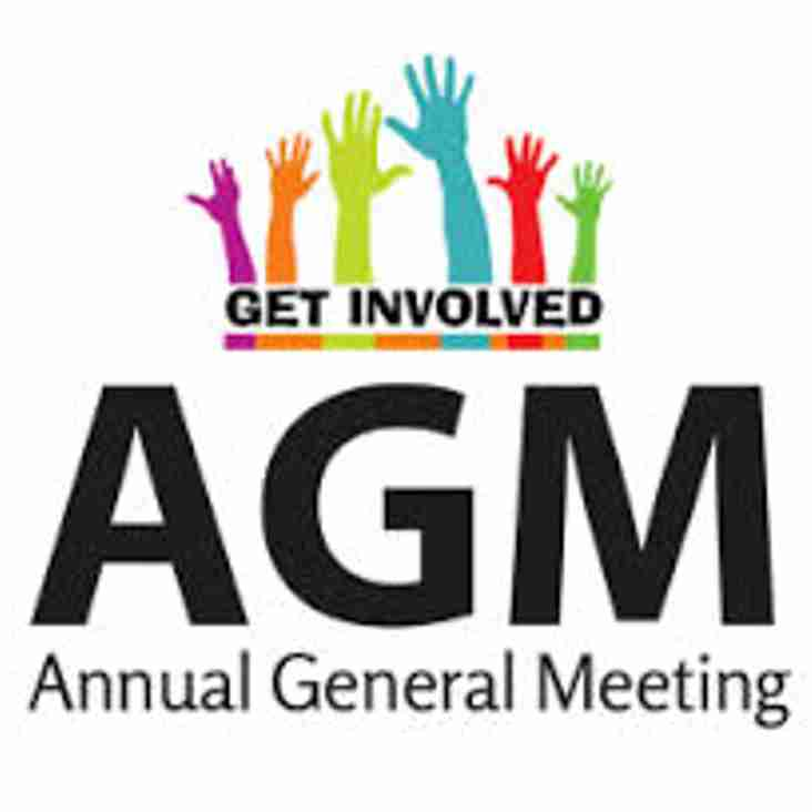 Notice of AGM - Monday 23rd July. 8pm Start