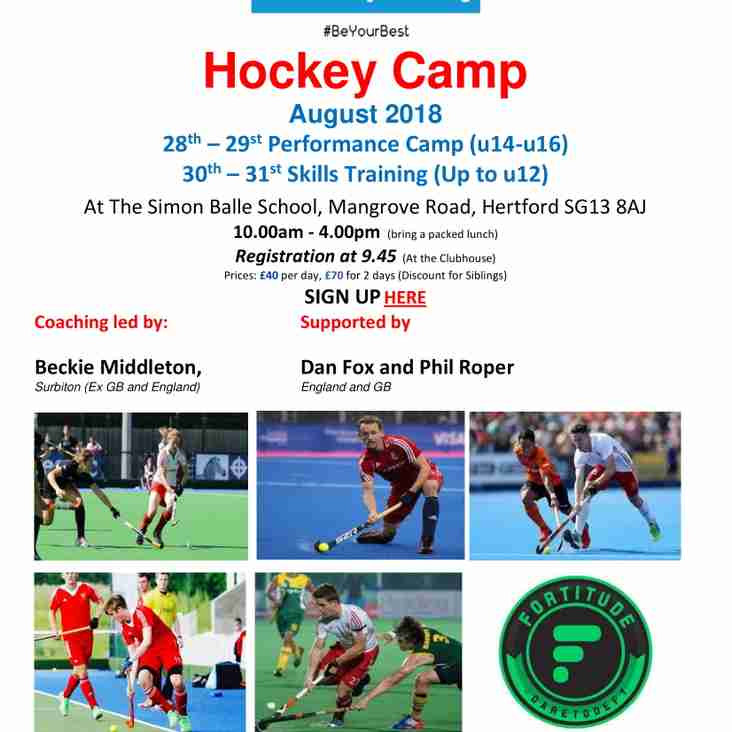 GB & Olympian Players to Coach at Hertford Summer Hockey Camp