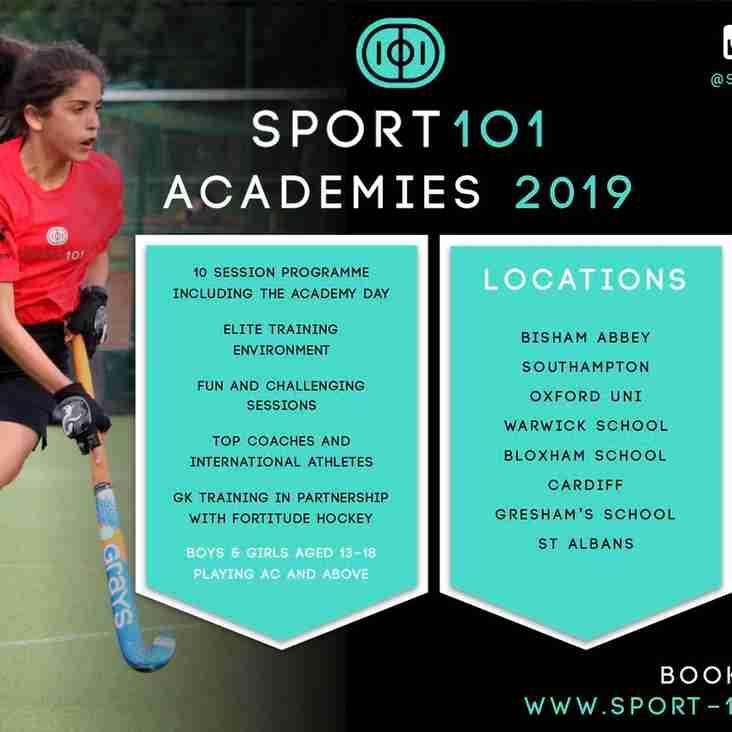 Sport 101 Academies 2019