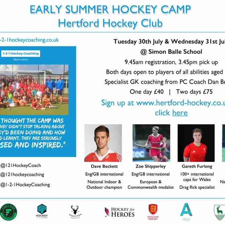 July Summer Hockey Camp