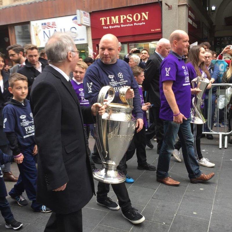 UEFA Champions League Trophy Relay