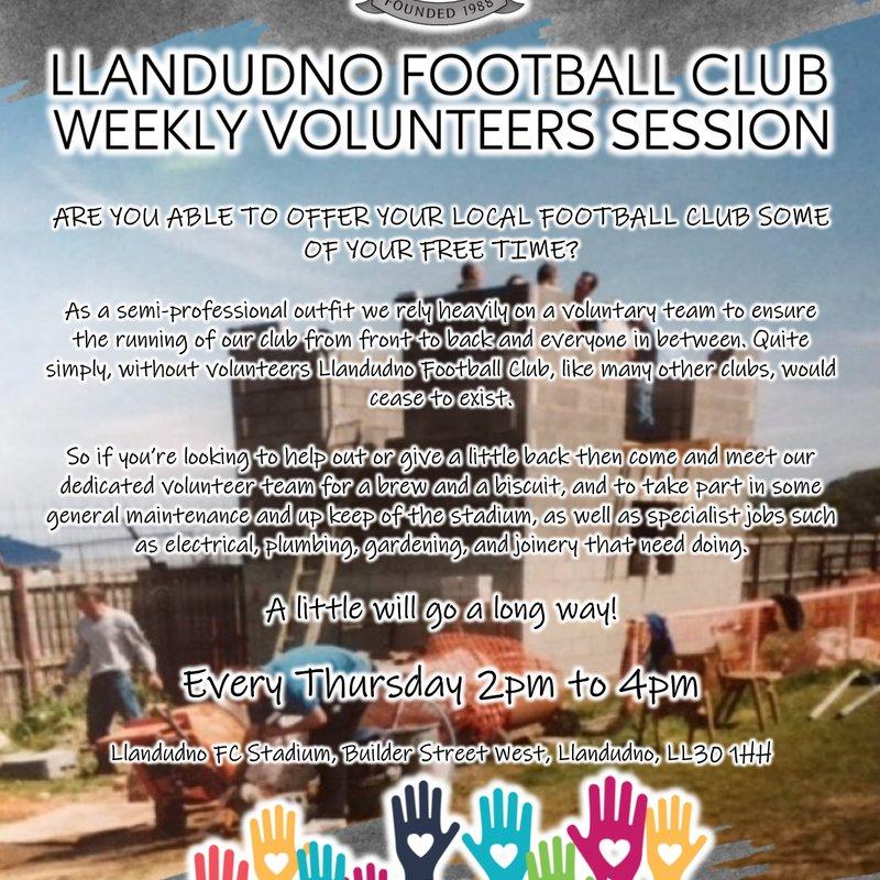 Volunteers Weekly Social Meeting Introduced