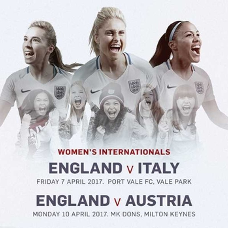 England Lionesses v Italy at Vale Park 7th April