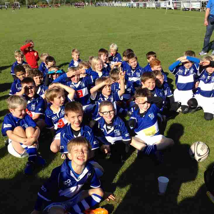 U7's first fixture of the season at Colchester RFC