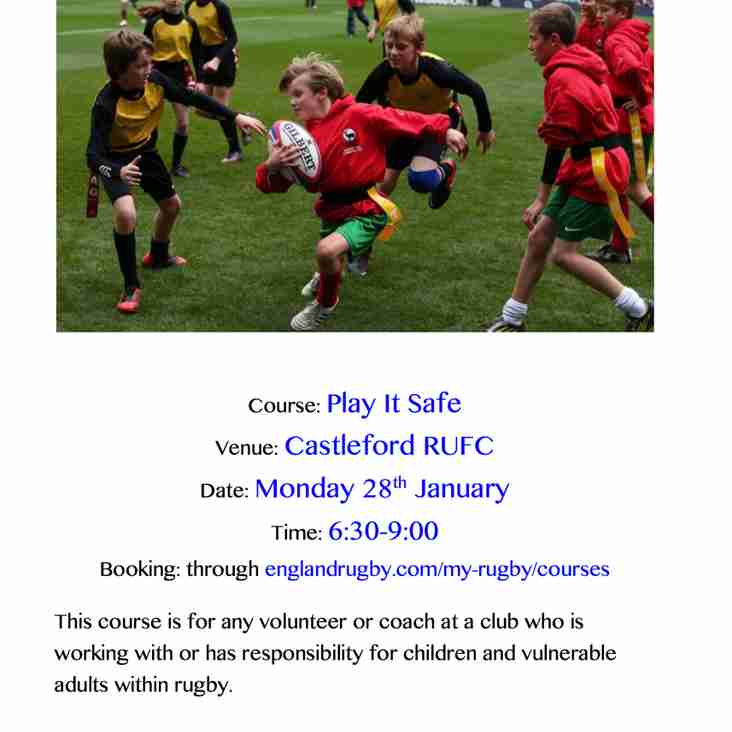 Play It Safe - Safeguarding course