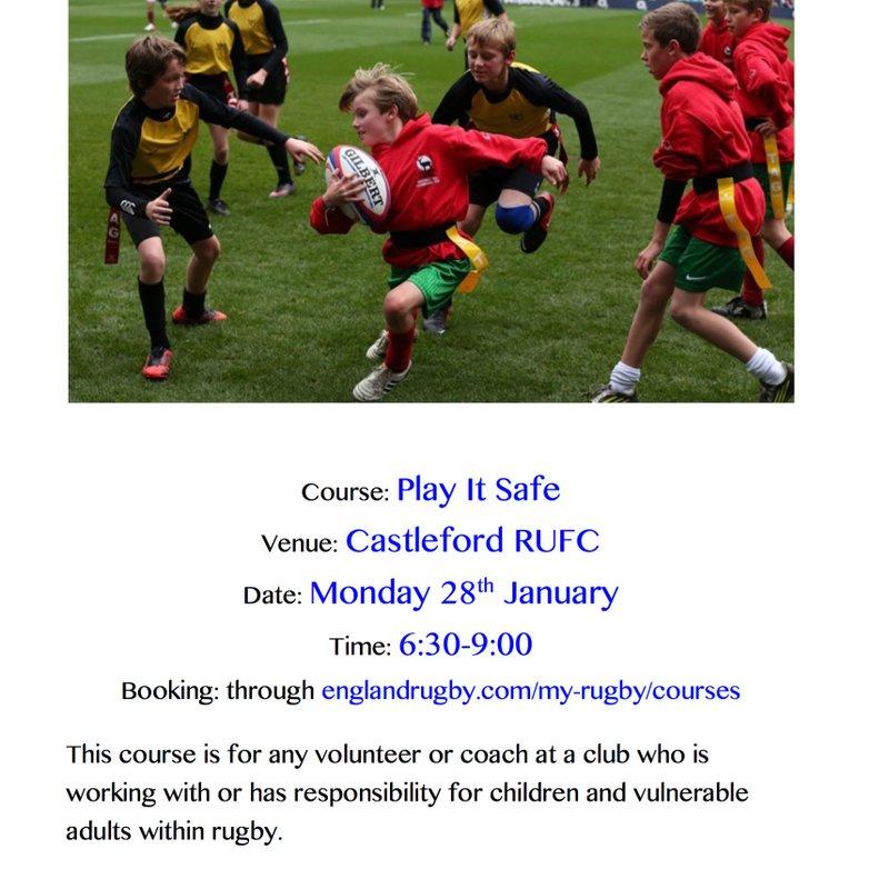 Play It Safe - Safeguarding course