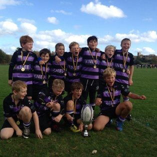 Clifton U10's come home with the Cup.