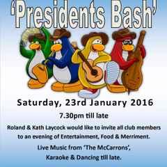 President's  Bash - Saturday, 23rd January 2016