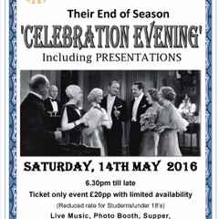 End of Season Celebration Evening - Saturday 14th May 2016
