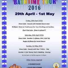 Bath Tour 2016  Itinary
