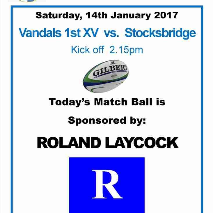 Match Ball Sponsor - Saturday, 14th January 2017