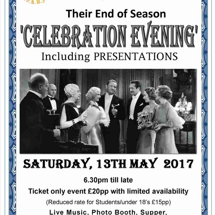 End of Season Presentation Evening - Saturday, 13th May 2017