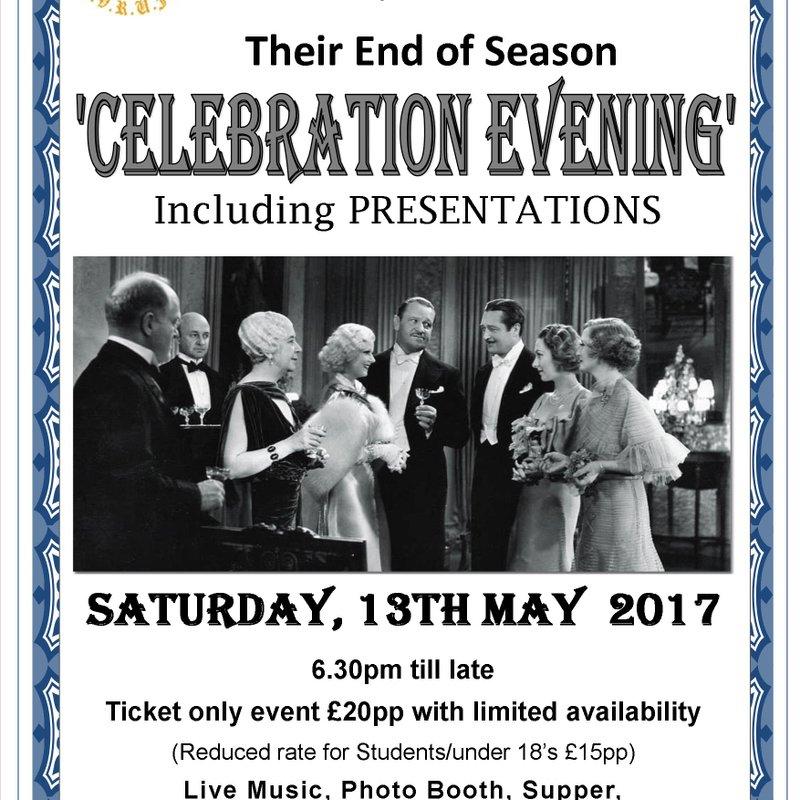 End of Season Presentation Evening - Saturday, 13th May 2017