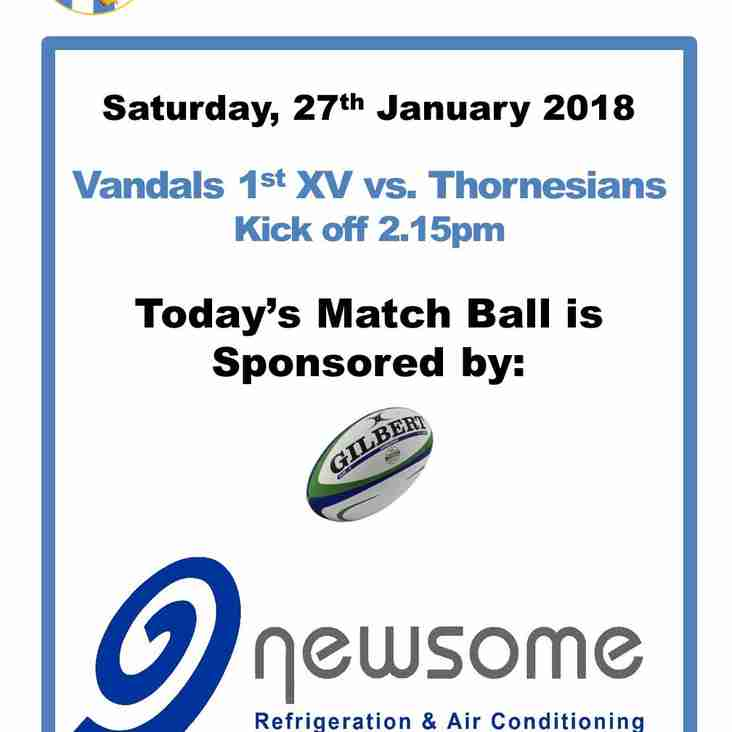 Match Ball Sponser - Newsome