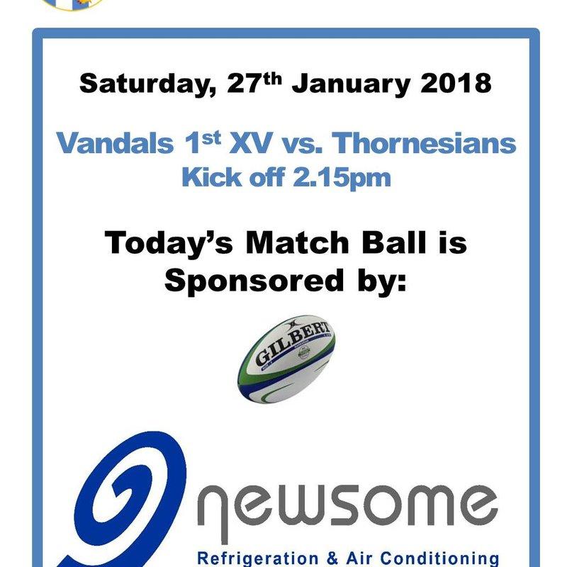 Match Ball Sponser - Newsome