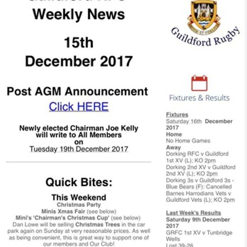 GRFC Weekly News_15th December 2017