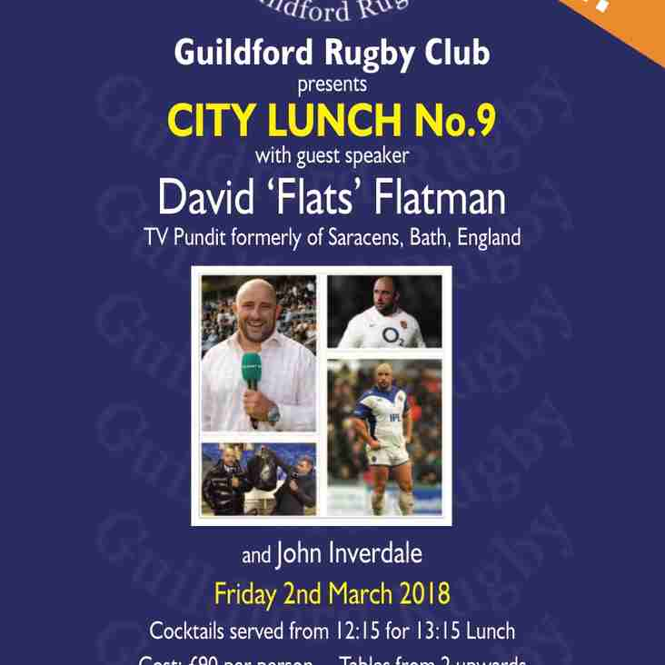 City Lunch Reminder - Don't Miss Out  - These Lunches Are Legendary!