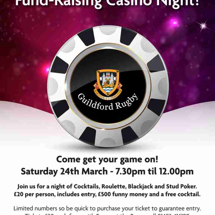 GRFC Fundraising Casino Night - THIS SATURDAY - Vegas Baby