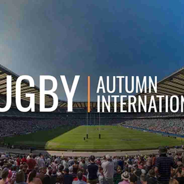 Autumn Internationals 2018 - Members Ballot Now OPEN - Be Quick - DEADLINE 14TH JULY