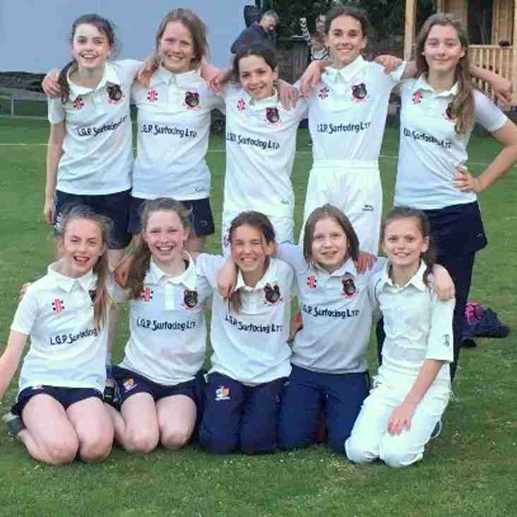Bristol CC U13 Girls victorious in first hard ball match !