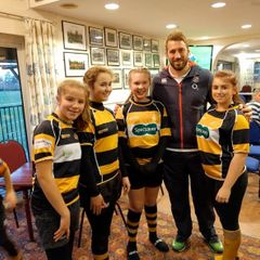 England Players Visit Watchetts 201116