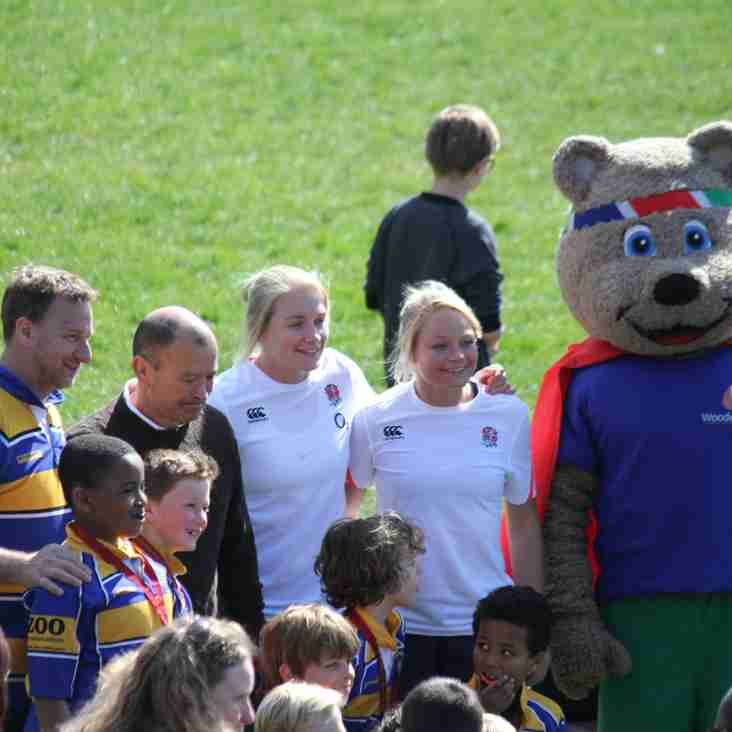 Eddie Jones surprises kids at Surrey Rugby Under 9 Festival
