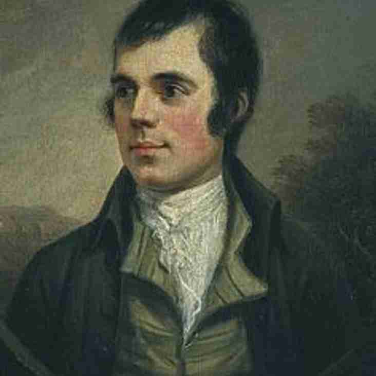 Burns Supper 26th January 2018