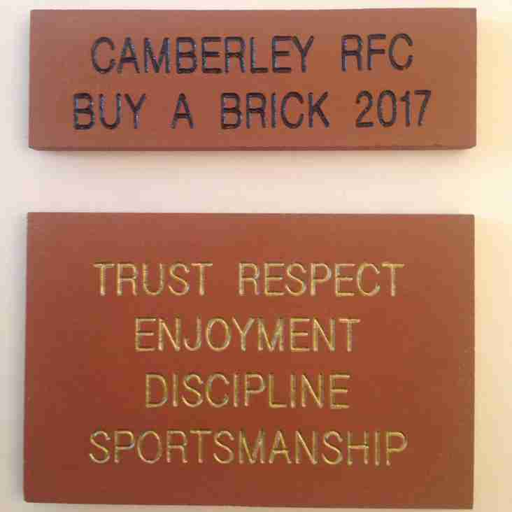 Buy a Brick to help us provide new changing rooms for the Ladies
