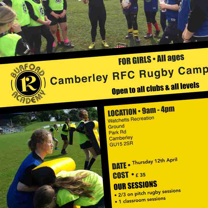 Girls Rugby Camp