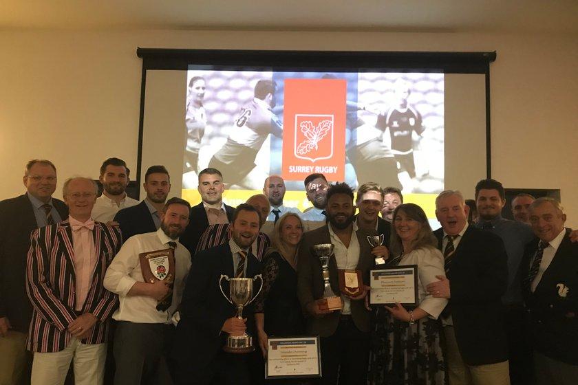 Cam Claim their awards at Surrey Dinner