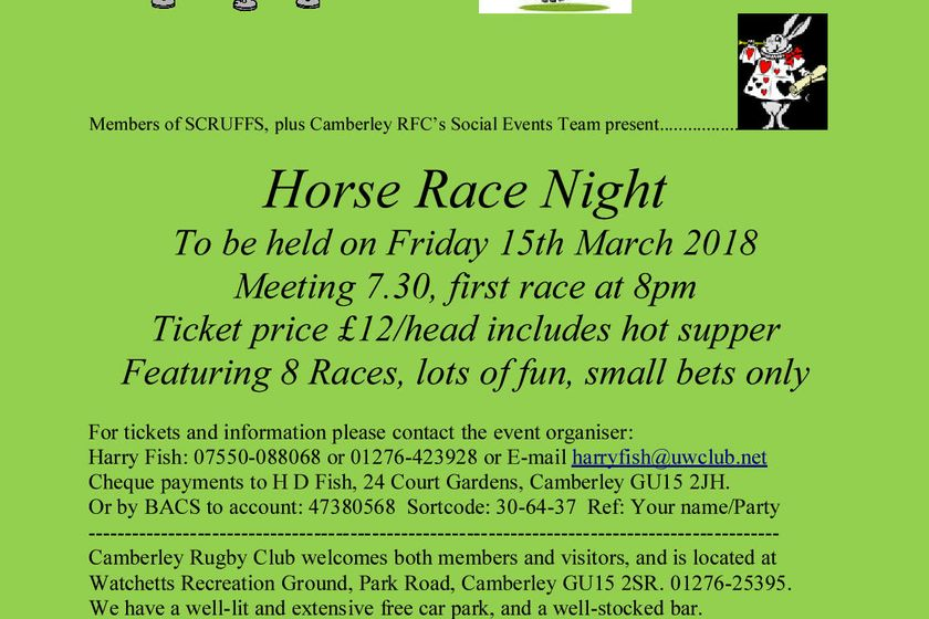 Horse Race Night