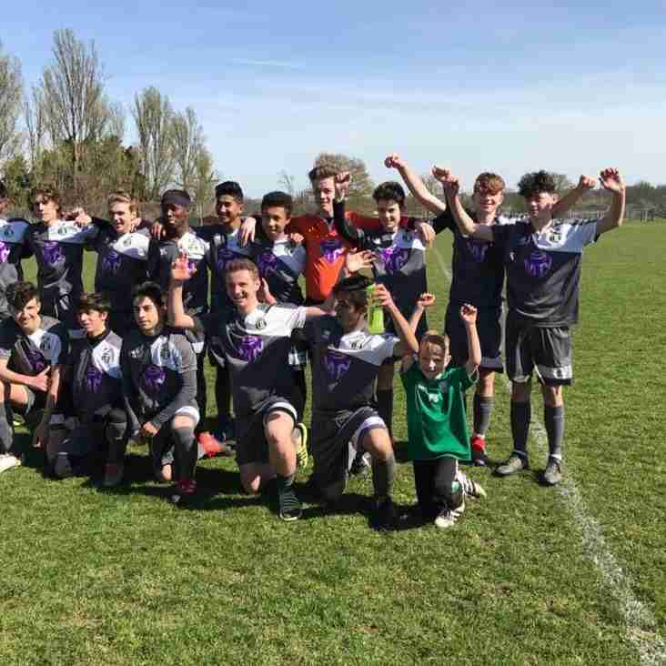 Under 16 Whites are Champions after victory at Kew Association