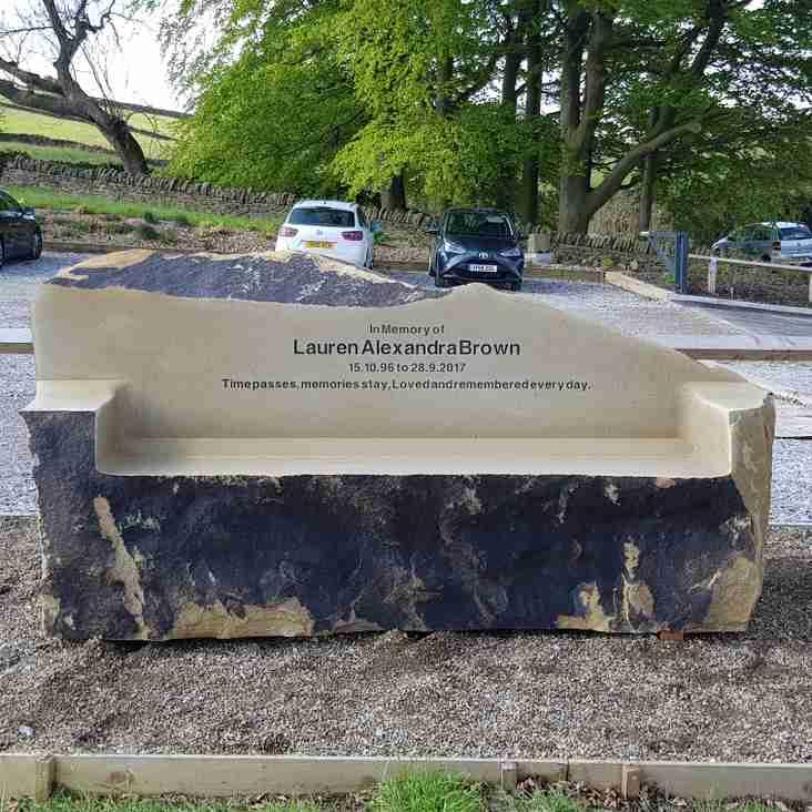 Lauren Brown Memorial Bench in Place