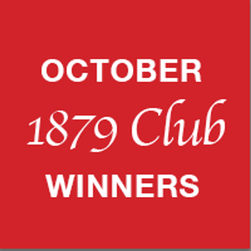 1879 Club October winners