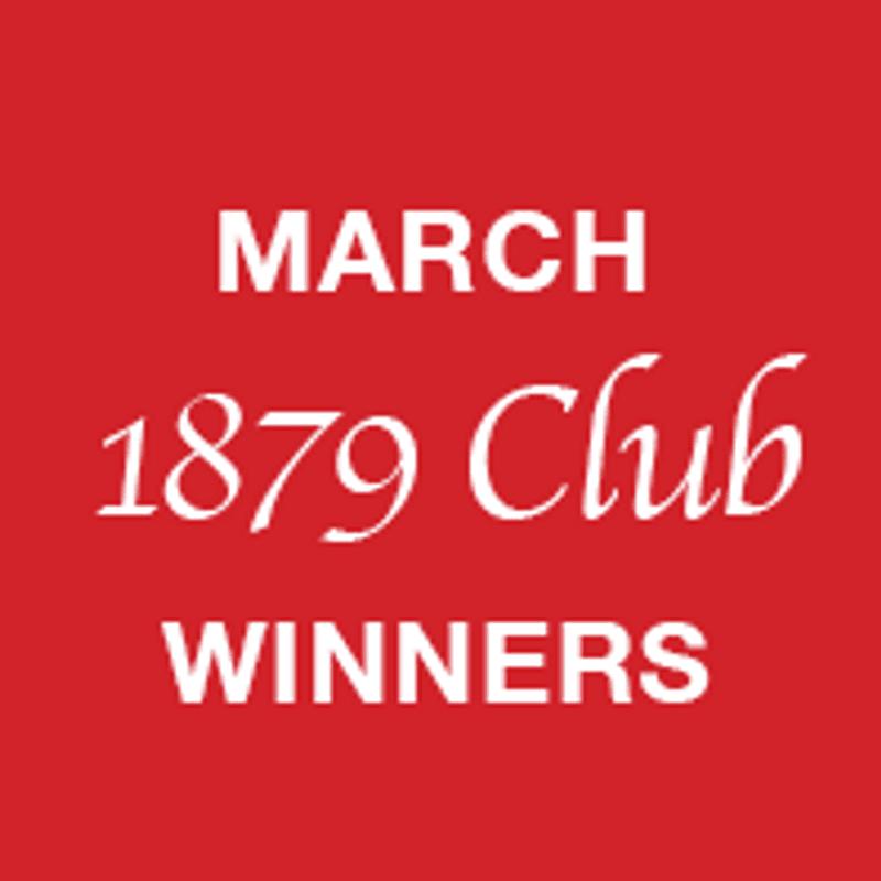 1879 Club March winners